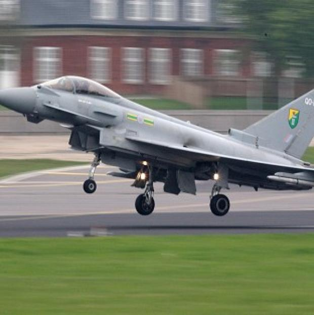 An RAF Typhoon
