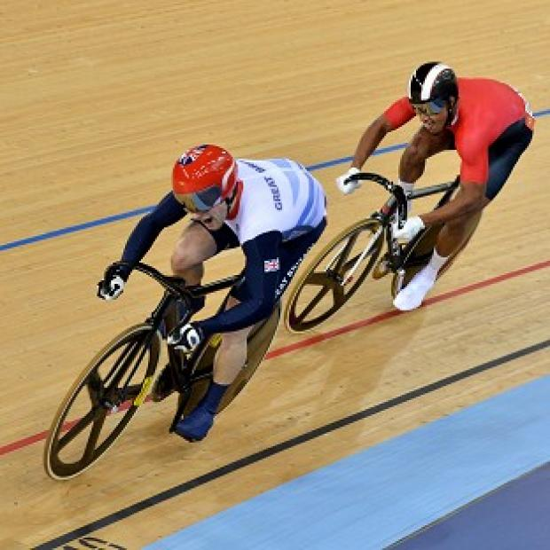 Jason Kenny, left, will ride for Olympic gold after beating Njisane Nicholas Phillip 2-0