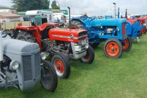 Vintage tractor display at South West's festival of transport