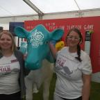 Smallholder: Kerry England and Kate Partridge with valance the Dairy Co Cow at this year's Royal Cornwall Show.