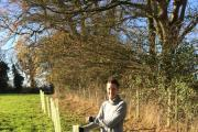 Marie Walker from Mattishall, Norfolk is one of the first landowners to plant a 'Tree Disease Recovery Pack' from the Woodland Trust (Photo: WTML)
