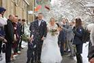 Community spirit ensured Rebecca McKenzie and Daniel Hodgson's wedding could go ahead despite the snow (Sarah Thew Photography/PA)