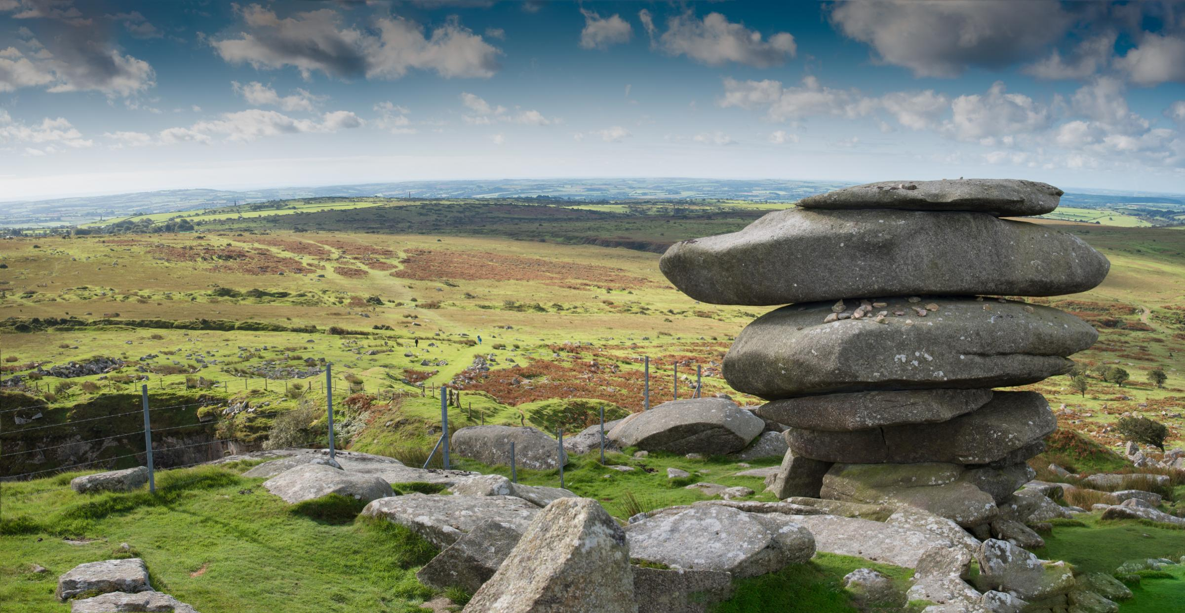 The Cheeswring, a natural rock formation on Stowe's Hill on Bodmin Moor