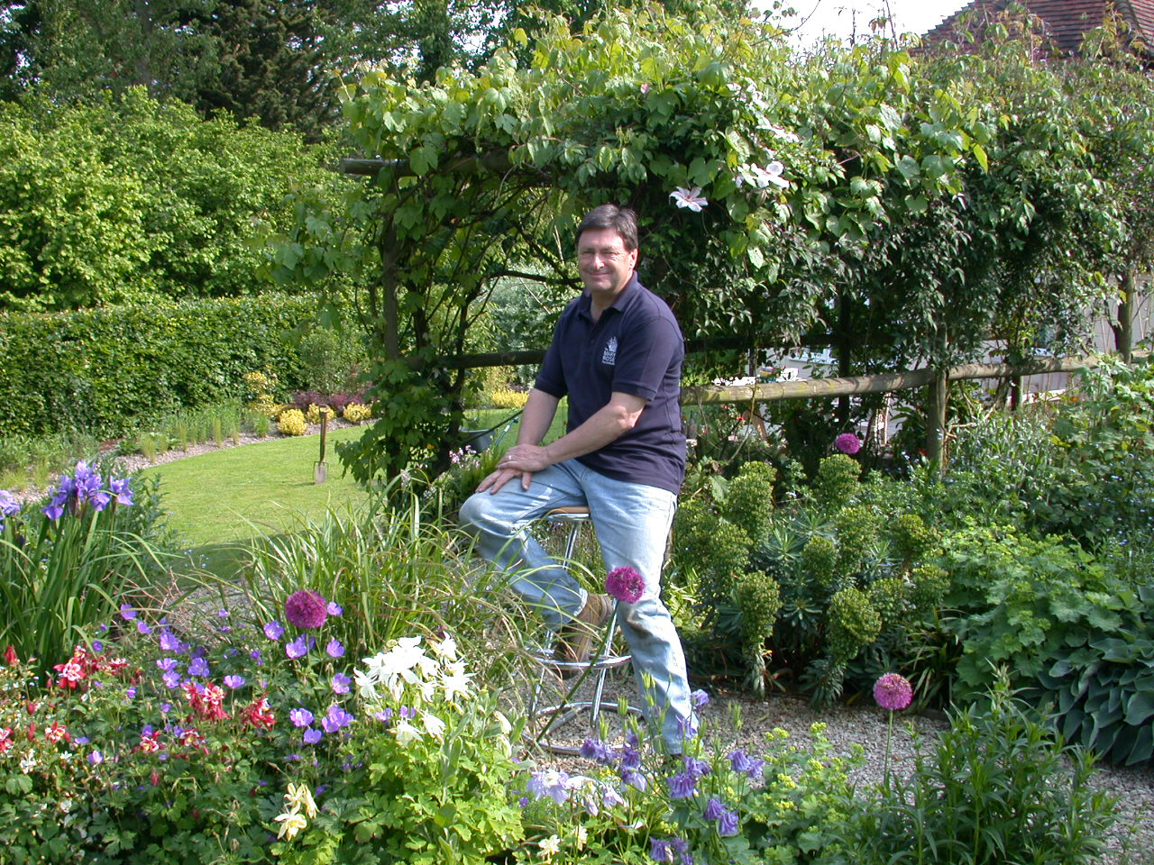 Alan Titchmarsh helping pollinators. Photo: Butterfly Conservation