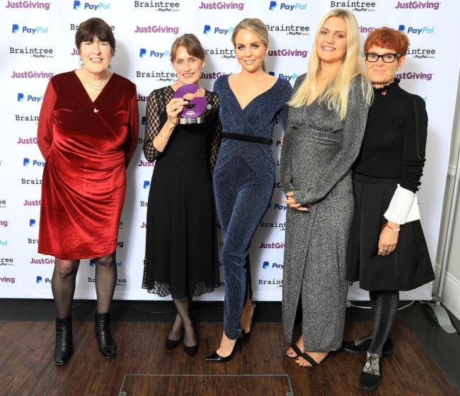 Pictured L-R: Gaynor Davies, Head of Operations, Jane Howorth MBE, Founder, Lydia Bright, Francesca Mapp, Marketing and Communications Officer, Yvonne Brunotte, BHWT fundraiser. Photo: Oliver Dixon