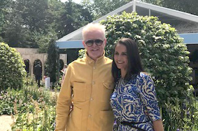 Chris Evans and his wife Natasha at the RHS Chelsea Flower Show